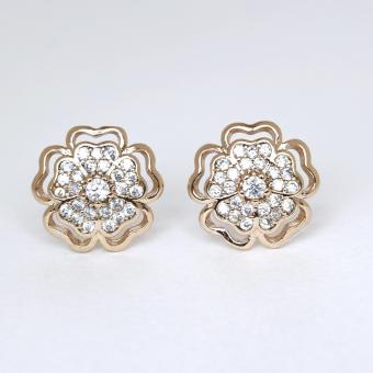 Athena & Co. 18K Gold Plated Mikayla Flower Stud Earrings