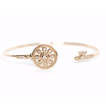 Athena & Co. 22k Gold Plated Elsa Bangle