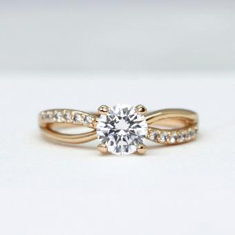 Athena & Co. 22k Gold Plated Valerie Engagement Ring