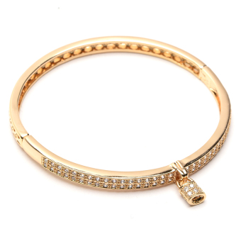 Athena & Co. 22k Love Locks Bangle (Rose Gold)