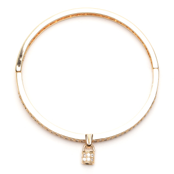 Athena & Co. 22k Love Locks Bangle (Rose Gold) - 2