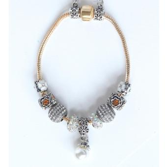 Athena & Co. Pandora Inspired D'or Charm Bracelet