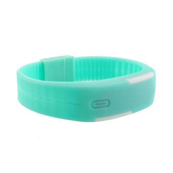 Aukey Men LED Sport Bracelet Touch Digital Wrist Watch (mint green) - picture 2
