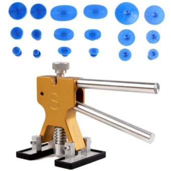 Auto Body Painless Dent Removal PDR Dent Lifter Puller Repair with 18 pcs Suction Tab Tools Kits Gold - intl