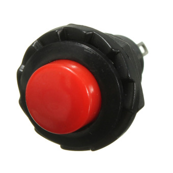 Autoleader Universal ON-OFF Momentary Push Mini Rocker Switch Horn Doorbell Car Dash Red - 3