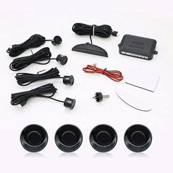 Automotive Car Parking Reverse Backup Radar Sound Alert + 4 Sensors - Black