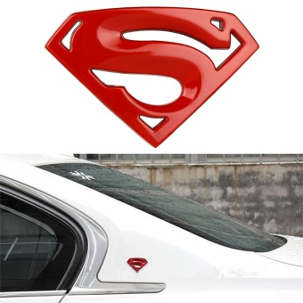 Automotive Car Styling Large Metal 3D 3M Superman Logo BadgeMotorcycle Stickers Emblem Accessories - intl