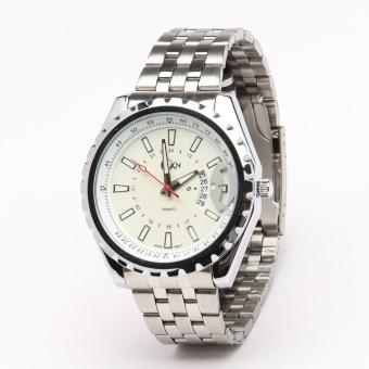 AXN Mens Stainless Steel Water Resistant Watch (White)