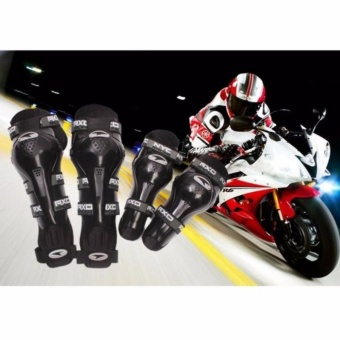 Axo Motorcycle Racing Riding Knee & Elbow Guard Pads protector Gear(BLACK)