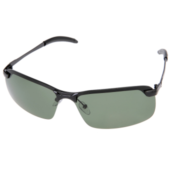 AZONE Classic Metal Frame Polarized Sunglasses (Green)