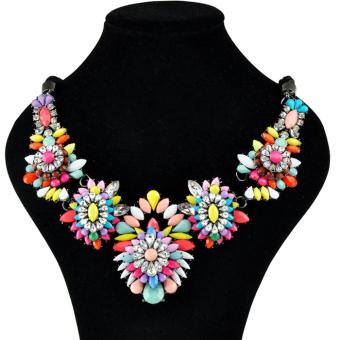 AZONE Flower Stone Necklace Pendants Multicolor