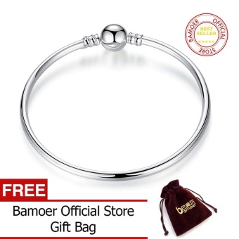 BAMOER Official Store Silver Color Women Bangle Snake Chain Bracelet & Bangle 18CM-21CM Pulseras Lobster PA9005 - intl