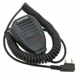 Baofeng Handheld Speaker Two Way Radio Speaker Microphone with RedLight for Dual Band Radio
