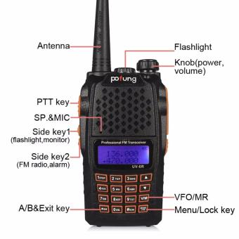 BAOFENG UV-6R Two-Way Radio Dual Band VHF/UHF SET OF 5 - 4