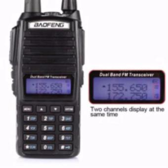 Baofeng UV-82 HP 8W Dual Band VHF/UHF Two Way Radio (Black)