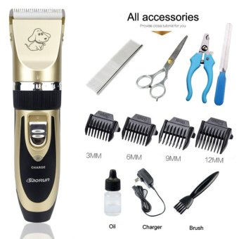 Baorun P2 Professional Electric Pet Clipper Cat Dog Hair Trimmer Dog Grooming Kit Rechargeable Electrical Clipper Shaver Pet Fur Nail Accessories - intl