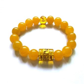 Be Lucky Charms Feng Shui Citrine with Protection Mantra Bracelet