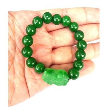 Be Lucky Charms Feng Shui Green Agate Money Catcher Pi Yao Bracelet - 3