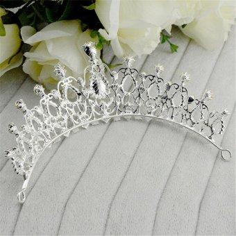 Beauty Pageant Queen Rhinestone Bridal Wedding Prom Tiara Comb Crown Fashion USA Silver - intl - 2