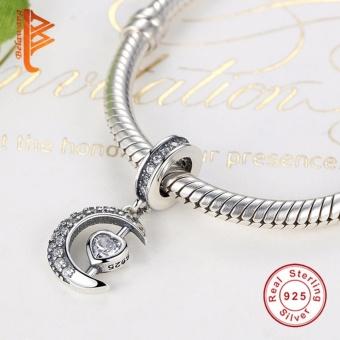 BELAWANG Moon Star Pendant Beads Fit Charms Silver 925 OriginalBracelet Fashion DIY Jewelry Making NEW Christmas Gift - intl - 2