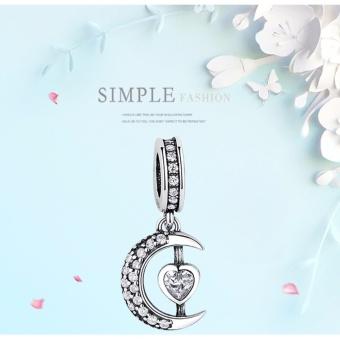 BELAWANG Moon Star Pendant Beads Fit Charms Silver 925 OriginalBracelet Fashion DIY Jewelry Making NEW Christmas Gift - intl - 4
