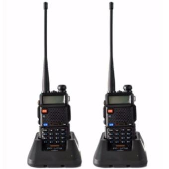Best Quality Baofeng /Pofung VHF/UHF Dual Band Two-Way Radio Set of2 (Black) UV5R