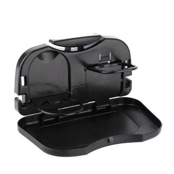 Best Quality Multifunction Car Back Seat Bottle Food Drink Cup Folding Tray Holder (Black)