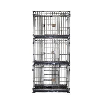 Best Quality Pet Crate 3 Layer Fold-able Cage with Plastic Tray