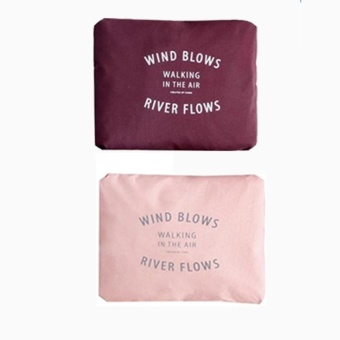 Best Quality Wind Blows Folding Carry Bag (Maroon & Pink) Setof 2