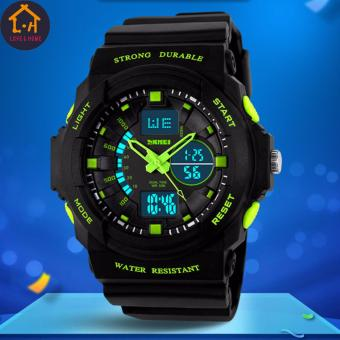 Better One ZGO Men's LED Digital 50M Waterproof Outdoor Wristwatch Sports Electronic Watch (Green)