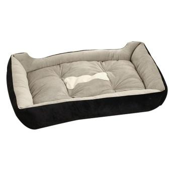 Big Size Large Dog Bed Kennel Mat Soft Fleece Pet Dog Puppy WarmBed House Plush - Black XS - intl - 2