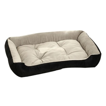 Big Size Large Dog Bed Kennel Mat Soft Fleece Pet Dog Puppy WarmBed House Plush - Black XS - intl