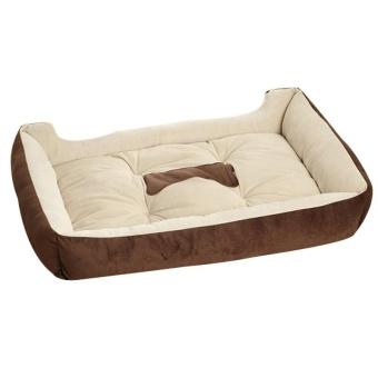 Big Size Large Dog Bed Kennel Mat Soft Fleece Pet Dog Puppy WarmBed House Plush - Black XS - intl - 5