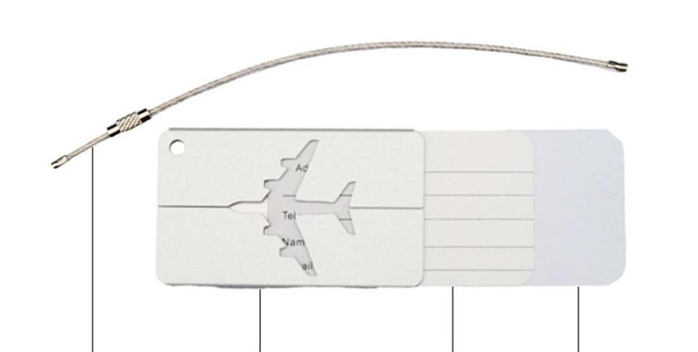 Bigood Stainless Steel Travel Luggage Labels Suitcase ID Tag BagIdentifier Black - intl