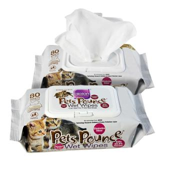 Bio Ion Pet Pounce Wet Wipes 80 sheets / pack - 2