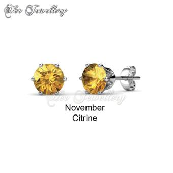 Birth Stone Earrings (November) - Crystals from Swarovski
