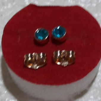 Birthstone Stud Earring Aquamarine ( March) hypoallergenic Price Philippines