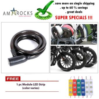 Black Anti Theft Motorcycle Bike Scooter Spiral Coil Cable Lock for Honda TMX 155