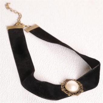 Black Gothic Velvet Cord Choker Charm Celebrity Necklace PendantRetro Boho Gift - 4