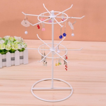 Black/White/Pink 2 Tiers rotating Earrings rack jewelry HolderJewelry Display Towel Jewelry Stand Display Rack - intl Price Philippines