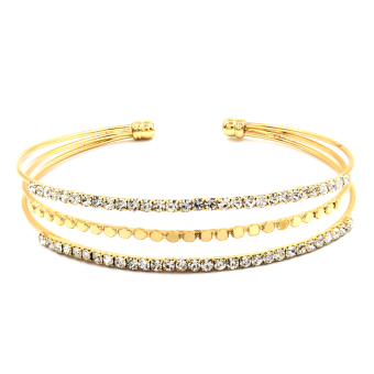 Bling Bling Alecia Gold Bracelet Bangle Jewelry