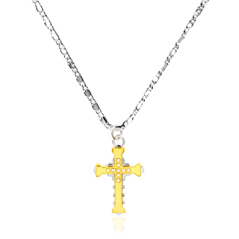Bling Bling High School DxD Anime Asia Argento Cross Fashionable Pendant Necklace (Silver/Gold)