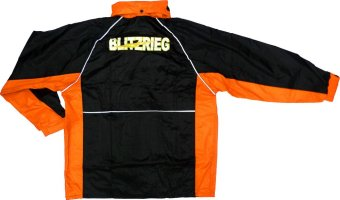 Blitzkrieg(R) MJ-Series MJ-51 Motorcycle Ultra Durable RainCoat &Jacket Set With Pants Touring (Neon Orange) - 4