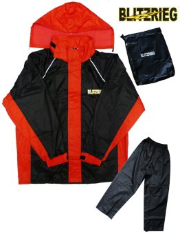 Blitzkrieg(R) MJ-Series MJ-51 Motorcycle Ultra Durable RainCoat &Jacket Set With Pants Touring (Red) Price Philippines