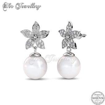 Bloom Pearl Earrings - Crystals from Swarovski