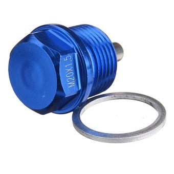 Blue M20 x 1.5 Magnetic Oil Drain Sump Plug Filter For SUBARU IMPREZA WRX STI - 3