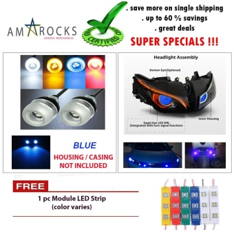 Blue Motorcycle LED Light Eagle Eye Universal DRL Light Bulb for for Yamaha Mio Sporty