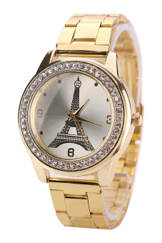 Bluelans® Women's Gold Stainless Steel Band Watch