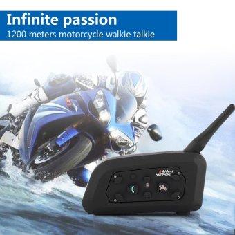 Bluetooth Motorcycle Helmet Interphone Intercom Headset V6 1200M 6 Riders - intl - 2