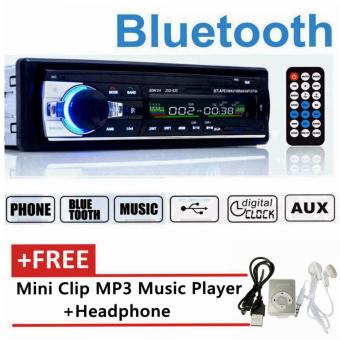 Bluetooth Stereo Radio Car MP3 Player in Dash Head Unit 1Din USB/SD AUX FM 12V JSD-520 Free Gift Mini MP3- intl